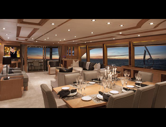 Hargrave Yaucht Sassy Yacht Interior Living Quarters