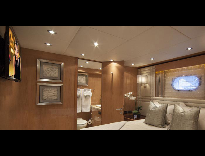 Hargrave Yaucht Sassy Yacht Interior Bedroom Bath